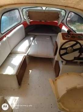 Lancha traker tipo crusero con trailer