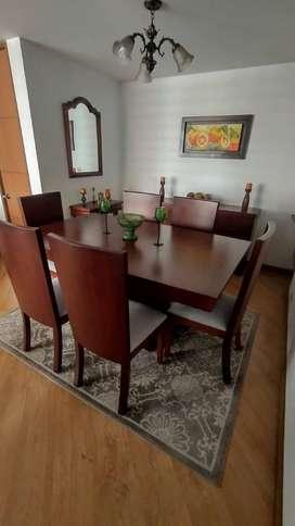 Juego sala y comedor en flor morado
