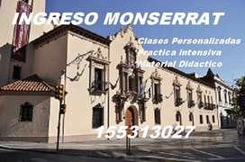 Prepara tu ingreso al Monserrat 2017