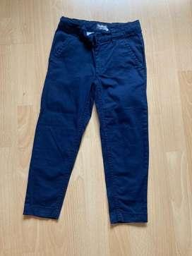 Pantalón de Drill Azul Oscuro para Niño
