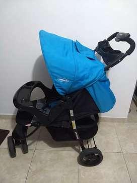 Coche Jogger Clio Blue para bebé de 3 ruedas