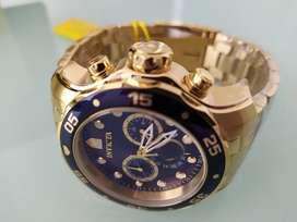 Reloj invicta 73 original para hombres dorado nuevi