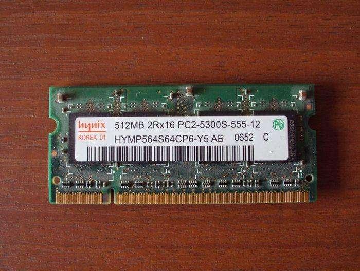 Memoria Notebook Hynix 512mb 2rx16 Pc2 5300s 555 12 0