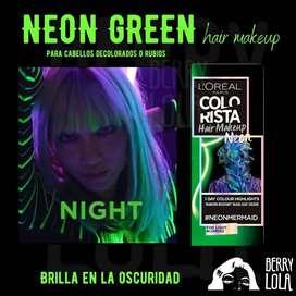 Neon Green Hair MakeUp