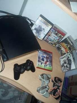 PS3 slim en buen estado OFERTA!!! 14 JUEGOS