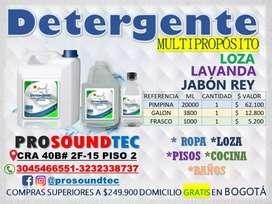 DETERGENTE MULTIPROPÓSITO LOZA, JABON REY Y. LAVANDA