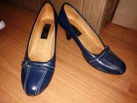 Tacones Elegantes Azules Talla 37 Oferta