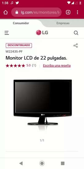 "Monitor LG Flatron W2243s 22"""