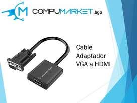 Cable Adaptador VGA a HDMI nuevo y facturado