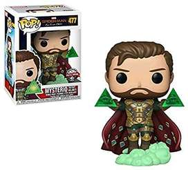 Funko Pop Mysterio Spiderman Lejos de Casa Exclusivo sin casco exclusivo