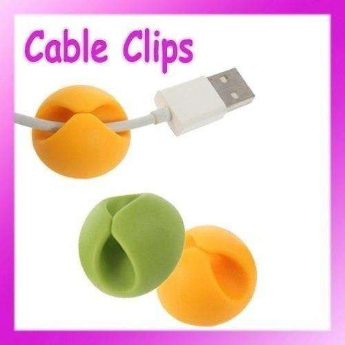 6pcs Organizador Cables Usb Fijador Clips Wire Color Pc Laptop 0