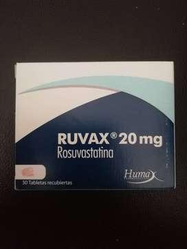 Rux, rosuvastatina 20 mg por 30 tabletas