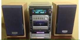 Aiwa equipo de sonido radio minidisc cassette cd