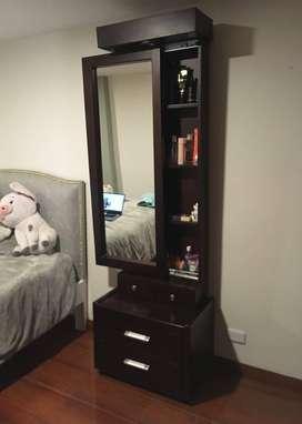 espejos cuerpo completo con cajones y puerta deslizable
