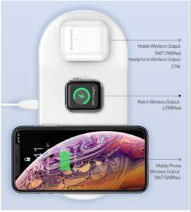 Cargador inalámbrico iPhone 11Pro XR XS MAX carga rápida Apple Watch 5 4 3 para Airpods Chargepad