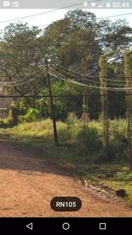 Vendo terreno a media cuadra de la ruta 105 altos Gonzáles 33.90 x 10
