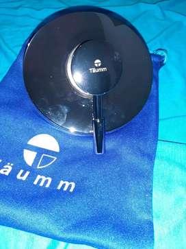 Registro de ducha monocontrol metálico cromado y acero inoxidable