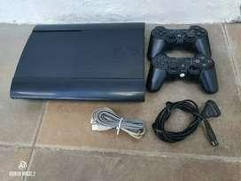 PLAYSTATION 3 SUPER SLIM 500gb ×no lee cd× no acepto mercado pago×