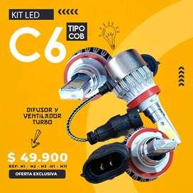 Par De Bombillos Led C6 16000 Lumens Carro O Moto H4