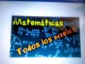 Clases partiulares de Matemática y Física