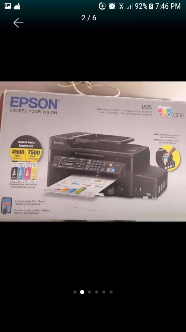 Vendo impresora multifuncional;  solo propuestas serias.