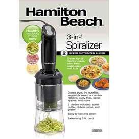 Espiralizador de verduras hamilton beach