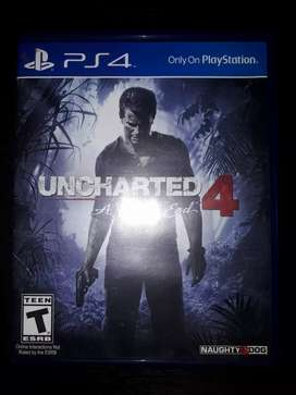 Uncharted 4: A thief's End para PS4 de segunda mano en excelente condición