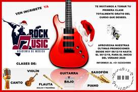CLASES DE CANTO, VIOLÍN, GUITARRA, PIANO Y FLUTA