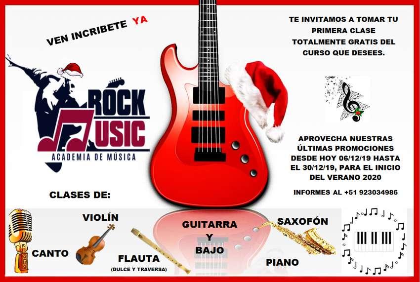 CLASES DE CANTO, VIOLÍN, GUITARRA, PIANO Y FLUTA 0