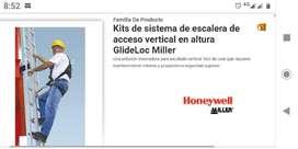 LINEA DE VIDA VERTICAL EN RIEL MILLER TIPO GideLoc de 11mts. de Long.