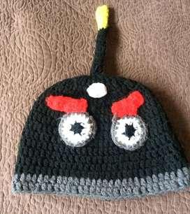 Gorro Angry Birds Negro