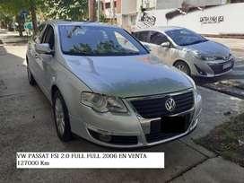 VW PASSAT FSI 2.0 2006  FULL  127000 km AUTOMATICO SECUENCIAL CUERO TECHO