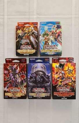 YuGiOh Combo 5 decks primera edición con protectores
