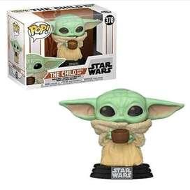 Funko Pop Baby Yoda con taza Star wars Mandalorian