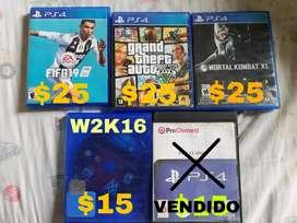 Vendo juegos de PS4 en buen estado!!