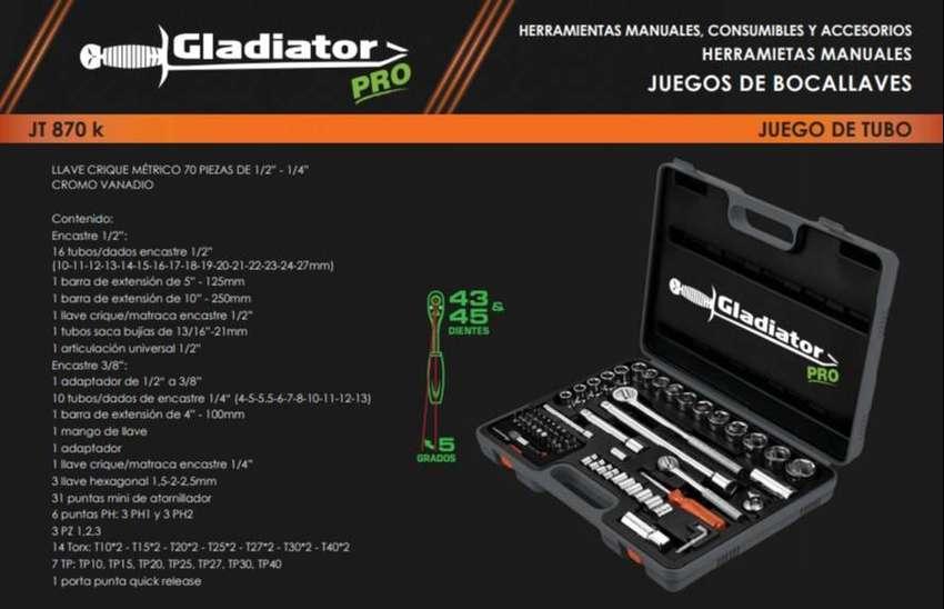 Tubos 70 piezas  Jt 870 K Manija Crique1/4 , 3/8 y 1/2 Gladiator