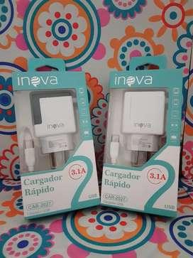 Cargador Celular Carga Rápida V8 Micro Usb Ó Clase C Inova