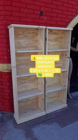 BIBLIOTECAS/ REPISAS NUEVAS !!!