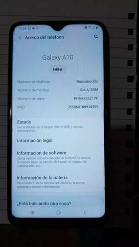 Vendo Samsung A 10 librado