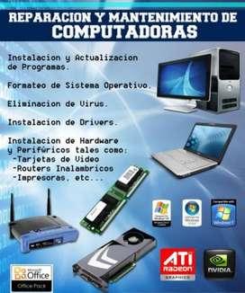Servicio tecnico de equipos de informatica y computacion.