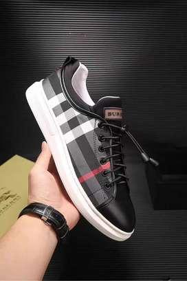 tenis zapatillas BURBERRY cuadros negros para hombre