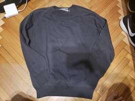 Sweater Airborn Color Gris Talle S Small Cuello V