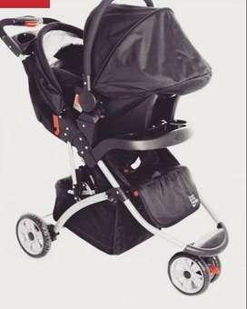 Coche + silla de carro, marca bium pepe ganga, comprado 2019.