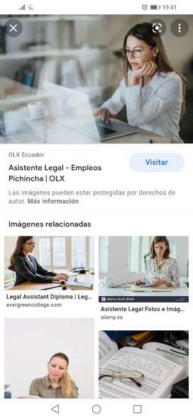 Busco trabajo de asistente legal o abogada junior