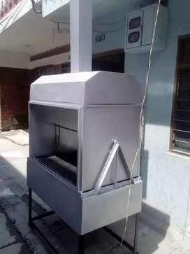 Se elaboran asador a carbón