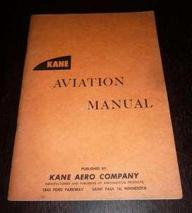 KANE AVIATION MANUAL  LIBRO MANUAL DE AVIACION EN INGLES. USA AÑO 1961