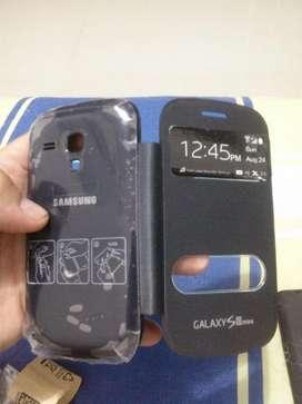 Forro con tapa incluida Samsung Galaxy S3 Mini, nuevos, blanco, rosado