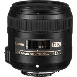 Lente 40mm nikon f/2.8 G. Para macro