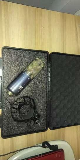Microfono, interface, base y antipop