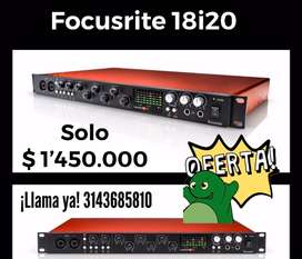Vendo interface Focusrite 18i20